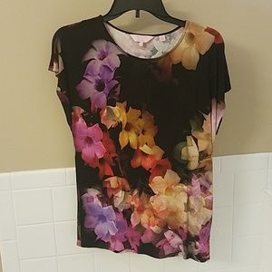 NWOT Ted Baker London Cascading Floral Tee size 1